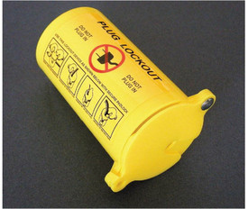 Large Yellow Lockout Plug - Aris Industrial Large Yellow Plug Lockout
