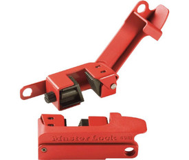 Steel Grip Circuit Breaker Lockout - Aris Industrial Red Steel Grip Circuit Breaker Lockout