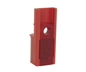 Aircraft Repair Circuit Lockout - Aris Industrial Red master lock aircraft circuit breaker lockout.