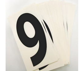 Assorted Numbers Set 4 x 2 Inch - Aris Industrial  PILE OF WHITE CARDs WITH Assorted NUMBERs 0 to 9 IN BLACK TEXT