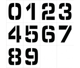 Individual Number Stencil Sets 0 to 9 - Aris Industrial 12 inch Stencil Number Set of 0 to 9 Numbers