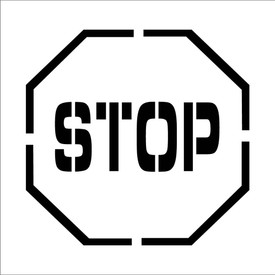 "Stop Symbol Marking Stencil - Aris Industrial Octagon Stop sign stencil with the words ""STOP"""