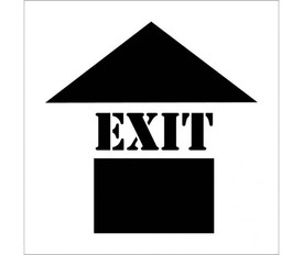 "Exit with Up Arrow Marking Stencil - Aris Industrial Stencil  with the word ""EXIT and an arrow."