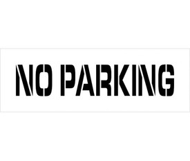 "No Parking Marking Stencil - Aris Industrial  stencil with the words ""NO PARKING"""