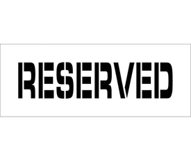 "Reserved Parking Marking Stencil - Aris Industrial  stencil with the words ""RESERVED"""