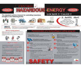 Lockout Tagout Educational Procedures Poster - Aris Industrial Lockout Tagout Hazardous Energy Educational Procedures Poster