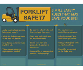 Forklift Safe Operational Precautions Poster - Aris Industrial Forklift Safety Simple Safety Rules that May Save Your life Poster