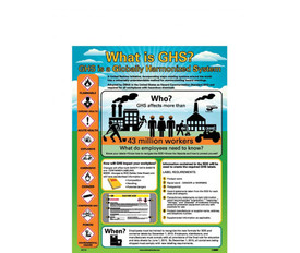 GHS Employee Information And Compliance Poster - Aris Industrial GHS Employee Information And Compliance Poster explains the Globally Harmonized System and symbols.