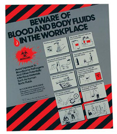 Bloodborne Pathogens In The Workplace Procedures Poster - Aris Industrial Bloodborne Pathogens In The Workplace Procedures Poster