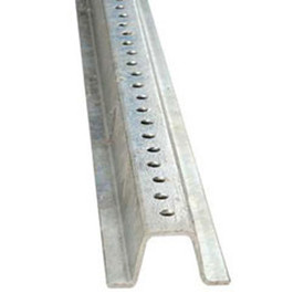 Galvanized Steel Sign Post - Aris Industrial Galvanized steel post with holes down the entire length to attach signs