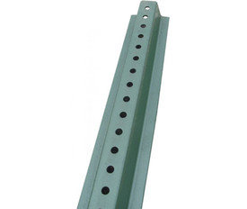 U Channel Sign Posts - Aris Industrial Green post with holes down the entire length to attach signs