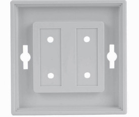 Mounted Sign Frames - Aris Industrial White Square sign frame with holes on each side for mounting.