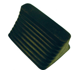Rubber or Steel Wheel Chock - Aris Industrial GREEN Rubber WHEEL CHOCK