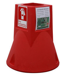 Fire Extinguisher Jobsite Caddy - Aris Industrial Red jobsite caddy base station only.