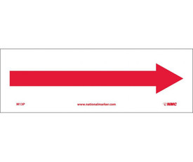 Right Arrow Only Graphic Sign - Aris Industrial White rectangular horizontal sign with a red arrow pointing to the right.