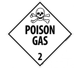 national marker safety signs nmc signs labels tags NFPA Label 400 dot poison gas 2 placard sign aris industrial white diamond dot placard with the words