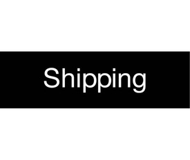 "Shipping Engraved 3x10 Sign - Aris Industrial  Engraved Sign with word ""Shipping"" in white text on black background."