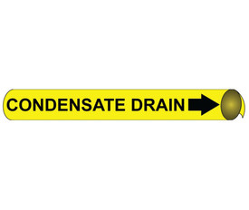 Condensate Drain Black On Yellow Pipe Marker Precoiled - Condensate Drain Pipe Marker Precoiled, Black text on Yellow