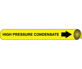 High Pressure Condensate Wrap Around Pipe marker - Pipe Marker High Pressure Condensate Wrap Around, Black text on Yellow