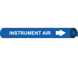 Precoiled White On Blue Pipe marker Label For Instrument Air - Precoiled Pipe Marker Label for Instrument Air, White text on Blue