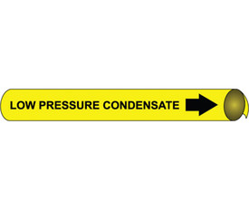 Precoiled Pipe marker Label For Low Pressure Condensate - Precoiled Pipe Marker Label for Low Pressure Condensate, Black text on Yellow
