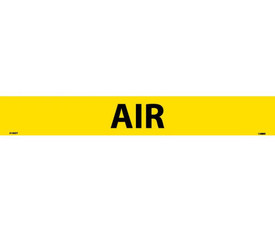 Air Pressure Sensitive Pipe marker Label - Pressure Sensitive Pipe Marker Labeled Air, Black text on Yellow