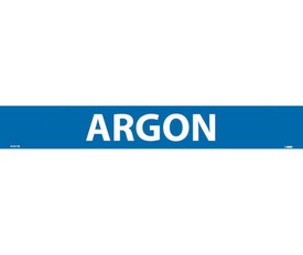 Argon Made in US PS Vinyl Pipe marker Label - Pressure Sensitive Pipe Marker Labeled Argon, White text on Blue