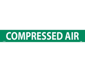 Compressed Air PS Vinyl Pipe Marker Label - Vinyl Pipe Marker Labeled Compressed Air, White text on Green