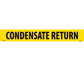 Condensate Return PS Vinyl Pipe Marker Label - Vinyl Pipe Marker Labeled Condensate Return, Black text on Yellow