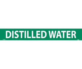 PS Vinyl Pipe marker Labeled Distilled Water - Vinyl Pipe Marker Labeled Distilled Water, White text on Green