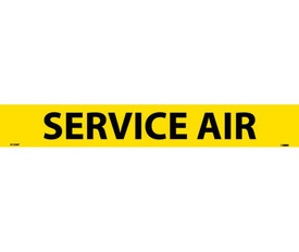 Service Air PS Vinyl Pipe Marker Label - Pressure Sensitive Pipe Marker Labeled Service Air, Black text on Yellow