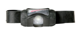 UK3AAA eLED Vizion I Lightweight Waterproof Headlamp - Vizion 3AA Black with adjustable headlamp and rubber strap.