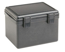 UK Watertight 609 Dry Box - Small black dry box with double front black clips.