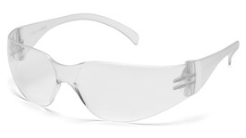 Pyramex Mini Intruder Multi-Color Safety Glasses - Clear comfortable full frame safety glasses with hard clear lenses for superior protection, angled front view