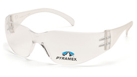 Pyramex Intruder Readers Lightweight Safety Glasses - Clear tinted full frame safety glasses with clear (+1.5) lenses, angled front view