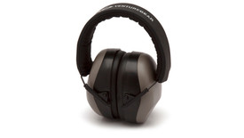 Pyramex VG80 Venture Gear Hearing Muff - Gray earmuffs with padded headband