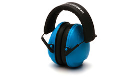 Pyramex VG90 Youth Ear Muff - Small Blue earmuff with padded headband