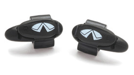 Pyramex Plastic Ear Plug Clips - Black right/left labelled ear plug clips for cord attachment to safety glasses
