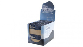 Pyramex Fog Buster Cleaner Towelettes  - Blue and white Fog Buster counter display box filled with fog buster Towelettes in individual packages