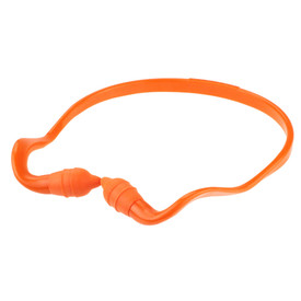Radians Hearing Protection Reusable RadBand Ear Plugs - orange curved band with orange soft pods.