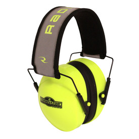 Radians Hi-Viz Yellow Terminator 29 NRR 29 EarMuff - High visibility yellow lightweight safety ear muffs with black cushion