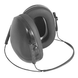Radians Behind the Head Lowset Ear Cup Protectors NRR 19 - Gray behind head ear muffs for use with hat featuring cord used around back of head