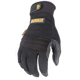 DeWalt Vibration Absorbing Gel Padded Palm Performance Glove - Black safety padded work gloves with adjustable wrist and layered palm