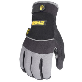 DeWalt Oil Resistant Ulnalock Wrist Utility Performance Glove - Light and dark gray safety work gloves with size adjustable wrist and padded grip