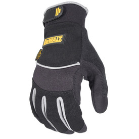 DeWalt All Purpose Oil Resistant Palm Performance Glove - Dark gray fingerless safety work glove with size adjustable wrist