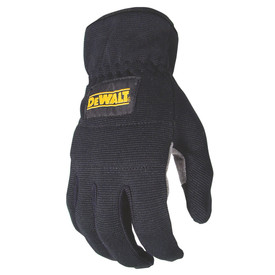 DeWalt Lightweight Reinforced RapidFit Work Glove - Black and light gray safety work gloves with slip on design