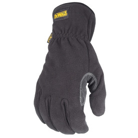 DeWalt Cold Weather Fleece Work Glove - Black and light gray thermal fleece safety work gloves with slip on design