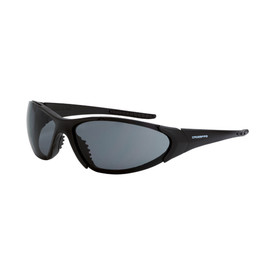Core CrossFire Premium Rubber Insert Safety Glasses - CrossFire - Full solid black frame safety glasses with metallic blue lenses and rubber nose pad