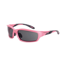 CrossFire Infinity Vented Nose HD Safety Glasses - CrossFire - Full pink frame safety glasses with dark tinted lenses and rubber temples