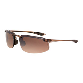 Crossfire ES4 HD & Polarized Safety Glasses - CrossFire - Brown half frame safety glasses with brown mirrored lenses and adjustable nose pads